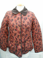 Ladies Next BNWT Petite brown leopard print quilted jacket  size 8 / 10  /