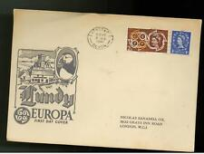 1961 Lundy England First Day Cover Europa Fdc