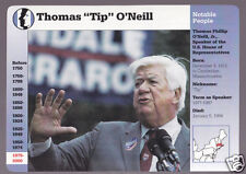 THOMAS Tip O'NEILL Speaker of the House HISTORY GROLIER STORY OF AMERICA CARD