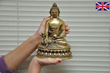 Tibetan 8 1/2 inch  Bhaisajyaguru Medicine Buddha Statue Brass. Handmade