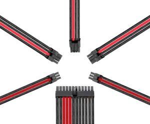 Reaper Kabel-Netzteil Erweiterungssatz-PSU Erweiterungen-Carbon/dunkelrot