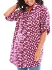 Woman Within ladies blouse top plus size 22/24 26/28 30/32 38/40 42/44 magenta