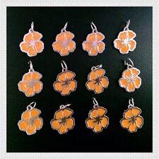 12 Enamel Hibiscus Flower Spring Summer Charms Jewelry Earrings Bracelet E9