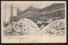 Postcard MONTREAL Quebec/CANADA  McGill Street Winter Snow Storm 1906