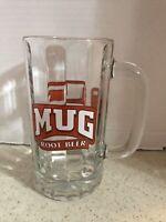 "MUG ROOT BEER HEAVY GLASS MUG  6"" TALL"