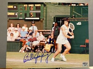 billie jean king signed autograph 8x10 photo tennis hof legend wimbledon riggs