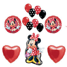 Disney Minnie Mouse Birthday Party Balloons Party Supplies Red Minnie Party
