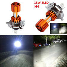 H4 Moto Bike LEDs Headlight Bulb Super White 3-COB Hi/Lo Lamp Scooter Fog Lights