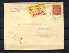 Österreich Nr. 197 EF auf R Brief Eilboten von Triest nach Zürich 1918   (#209)