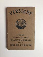 COURS D'AUTOMOBILE ET CODE DE LA ROUTE - VERSIGNY