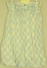 BARDOT Check BOW DRESS Strapless bubble hem Mini length NEW! RP$99 ~ Women sz 10