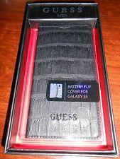 """étui à clapet portefeuille GUESS MEN samsung galaxy S5 """"noir croco"""" - neuf"""