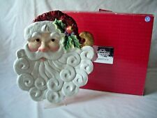 Fitz and Floyd Essentials Christmas Santa Canape Plate