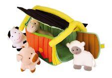 Fattoria in stoffa cm 24x20x18, peluche animali, cavallo, maiale, mucca, pecora