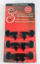 Grover 10B2C Original Rotomatic Guitar Machine Head Tuners, Set of 6 (3x3) BLACK