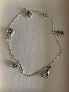 925 silver ankle bracelet