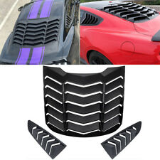 Rear Window Louver Quarter Side Scoop Cover Vent Hood For Ford Mustang GT Back y