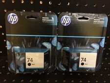 Lot of 2 Genuine Sealed HP 74 Black Ink Cartridge CB335WN Exp. 2016