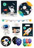 Outer Space ASTRONAUT Birthday Party Range Planets Rocket Tableware Decorations