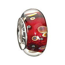 Authentic Chamilia Murano Glass New Bead Charm OB-105 Rocky Raku-FREE SHIPPING