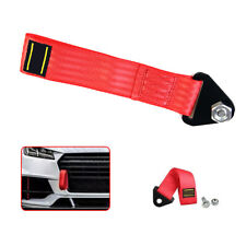 Red Sport High Strength Racing Tow Strap Set For Front Rear Bumper Towing Hook