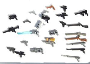 Genuine LEGO Guns Lot of 25 - As Shown Machine Gun Rifles Handguns and More