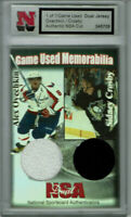 Sidney Crosby Alexander Ovechkin NSA Game Used Dual  Jersey  Piece 1 of 1