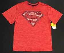T-SHIRT Boys Med 8 SUPERMAN SHIELD SYMBOL LOGO BIOWORLD DC Comics NWT