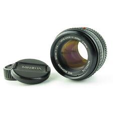 Minolta MD Rokkor 1:1.4 50mm Objektiv lens 6 Blades + caps