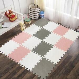 Baby Sensory Play Mat Kids Living Room Tummy Time Flooring Soft Foam Rug Carpet