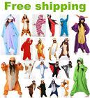 Top !! Hot Unisex Adult Pajamas Kigurumi Cosplay Costume Animal Hooded Sleepwear