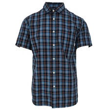 5db1207a Quik Silver Men's Blue Everyday Check S/S Woven Shirt (Retail ...