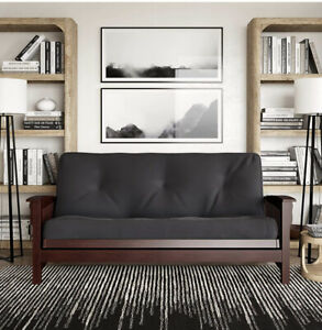 DHP 6-inch Coil Futon Full Size Mattress (only), Gray 029986542144