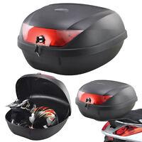 52L 2 Helmet Motorcycle Top Back Box Luggage Storage Motorbike Moped Universal