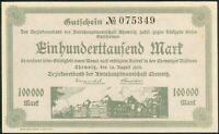 Amtshauptmannschaft Chemnitz 100.000 Mark 24. Aug. 1923 Kenn Nr.075349 UNC.-