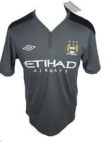 Manchester City FC Umbro mens grey polyester football training shirt 2011-12