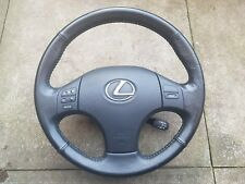 2008 LEXUS IS 220D BLACK LEATHER STEERING WHEEL WITH A/BAG