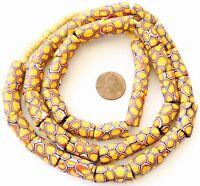 Matched Antique Venetian Glass Millefiori Dark mustard African Trade Beads
