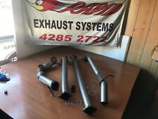 "FORD RANGER PX 3.2L 3"" 409 STAINLESS STEEL EXHAUST WITH CAT AND NO MUFFLER"