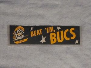 **RARE**LATE 1950s  PITTSBURGH PIRATES BUMPER STICKER w/VINTAGE PIRATES LOGO