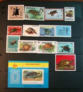 Stamp Lot of Turtles  Mint L396