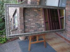 X-Large Full Length Wall Mirror Rustic Ornate Silver Frame 200x87cm FREE SYD DEL