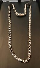 David Yurman Sterling Silver Wheat 4mm Link Chain Necklace 16""
