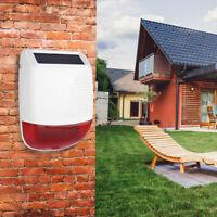 433 MHz Wireless Solare Sirena esterno universale per antifurto allarme casa IT
