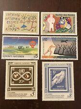 United Nations Vienna 1991 Stamp Set Scott #117-122 MNH