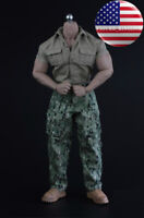 "1/6 Jurassic Park Soldier Shirt Pants Set For 12"" Muscular Figure PHICEN M34 M35"