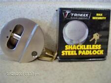 Trimax Hockey puck Locks Trailer Shed Tool Box Hasp (3) pack