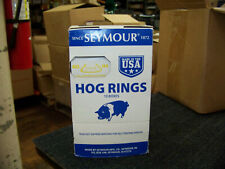 Seymour No. H4 Hill Pattern Hog Rings 65 ea. Box Copper Coated 10 Boxes 69029