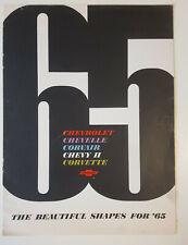 Prospekt / Brochure Chevrolet Impala, Chevy2, Corvair, Chevelle & Corvette 1965