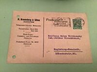 Germany Frankfurt Fair 1923 slogan cancel stamps card ref 50571